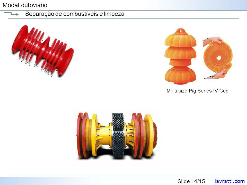 lavratti.com Slide 14/15 Modal dutoviário Separação de combustíveis e limpeza