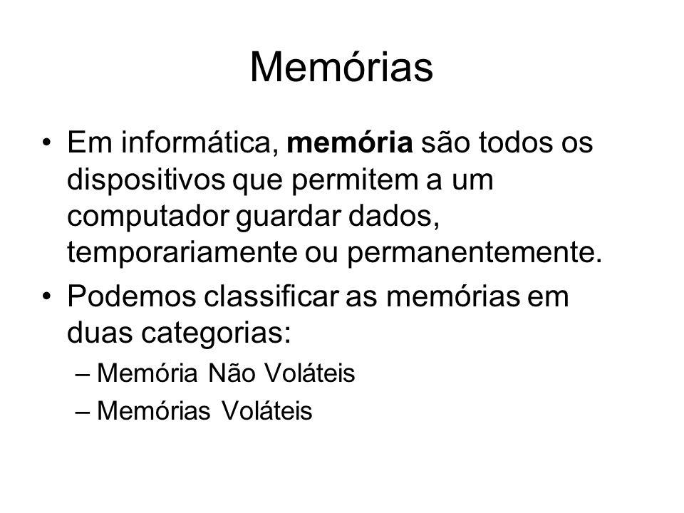 Em informática, memória são todos os dispositivos que permitem a um computador guardar dados, temporariamente ou permanentemente.