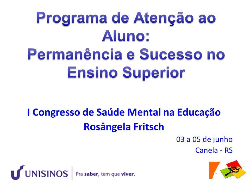 I Congresso de Saúde Mental na Educação Rosângela Fritsch 03 a 05 de junho Canela - RS