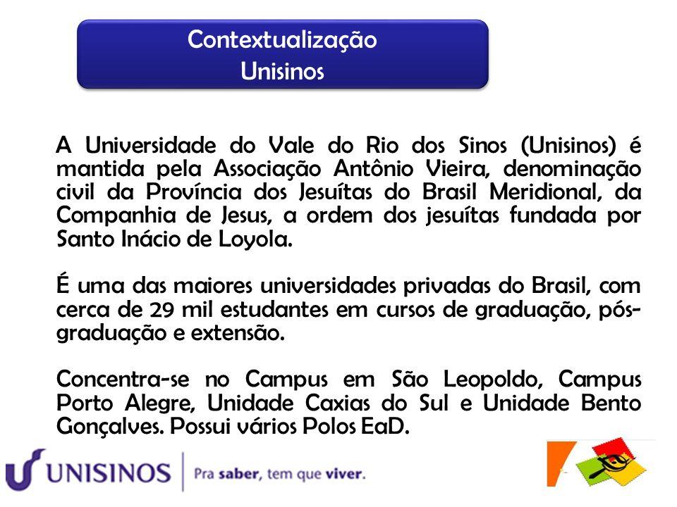 A Universidade do Vale do Rio dos Sinos (Unisinos) é mantida pela Associação Antônio Vieira, denominação civil da Província dos Jesuítas do Brasil Mer