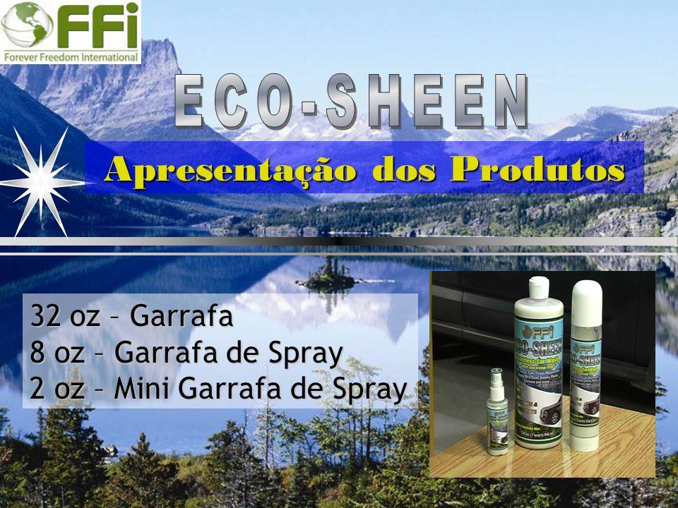 Apresentação dos Produtos 32 oz –Garrafa 32 oz – Garrafa 8 oz – Garrafa de Spray 2 oz –Mini Garrafa de Spray 2 oz – Mini Garrafa de Spray