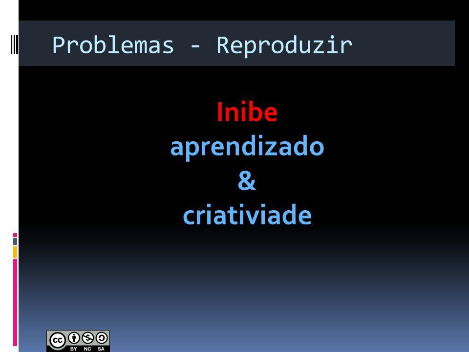 Problemas - Reproduzir Inibe aprendizado & criativiade