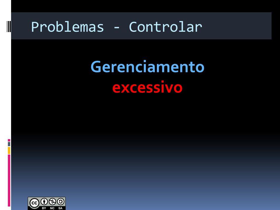 Problemas - Controlar Gerenciamento excessivo