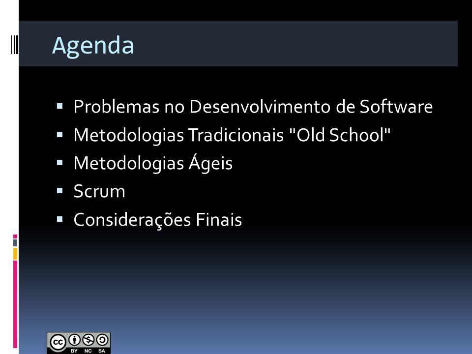 Agenda Problemas no Desenvolvimento de Software Metodologias Tradicionais
