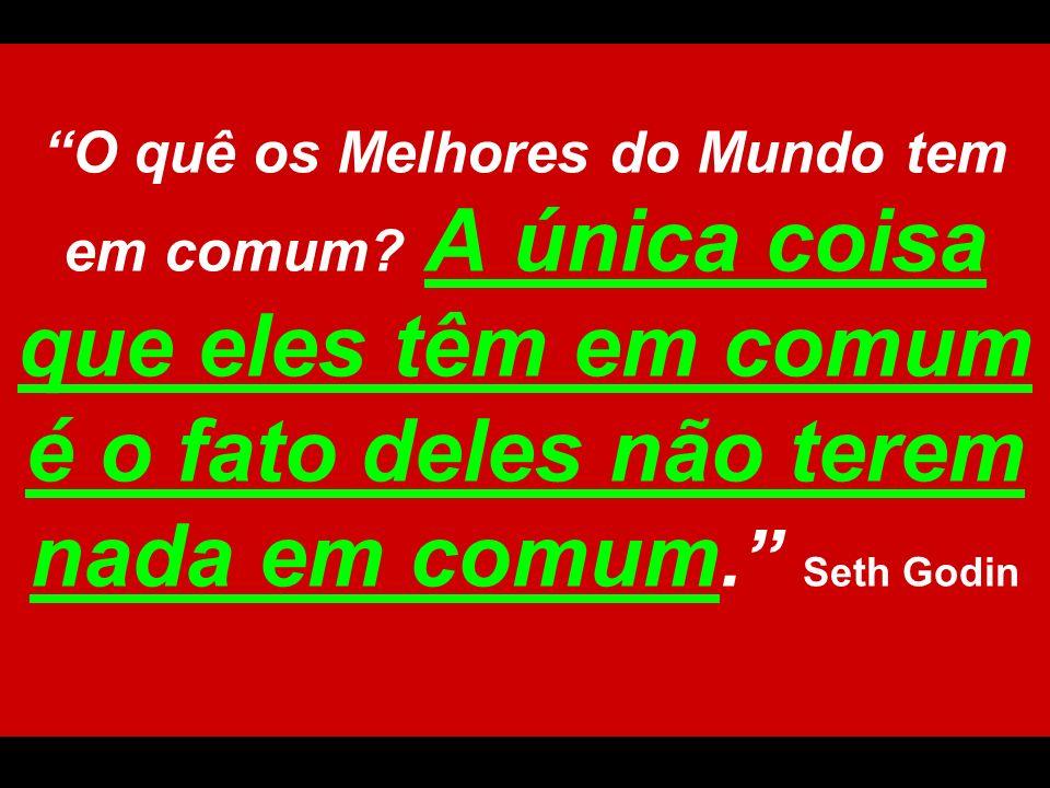 O quê os Melhores do Mundo tem em comum? A única coisa que eles têm em comum é o fato deles não terem nada em comum. Seth Godin