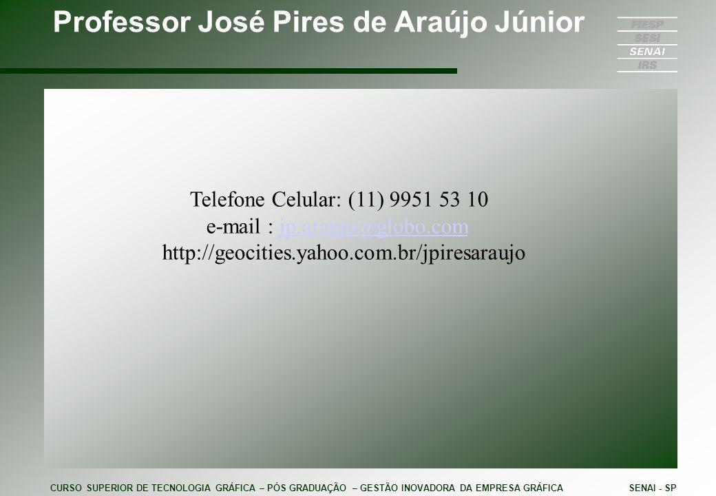 Professor José Pires de Araújo Júnior Telefone Celular: (11) 9951 53 10 e-mail : jp.araujo@globo.comjp.araujo@globo.com http://geocities.yahoo.com.br/