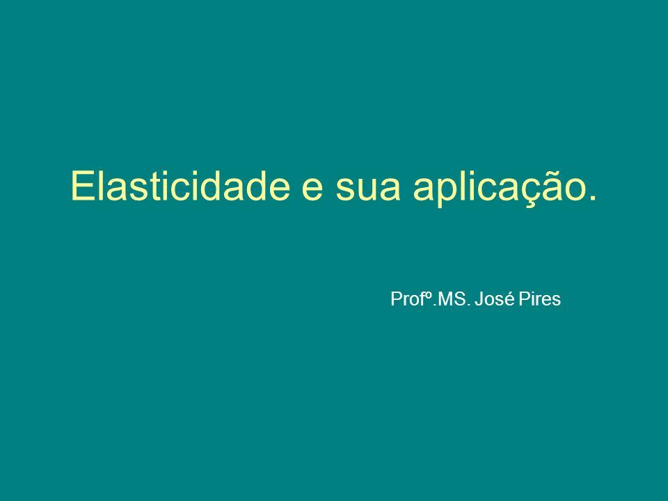 Elasticidade e sua aplicação. Profº.MS. José Pires