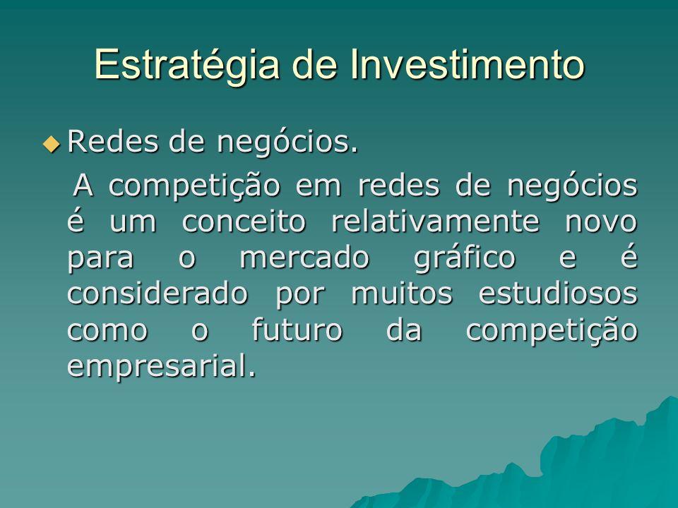 Estratégia de Investimento Redes de negócios. Redes de negócios. A competição em redes de negócios é um conceito relativamente novo para o mercado grá