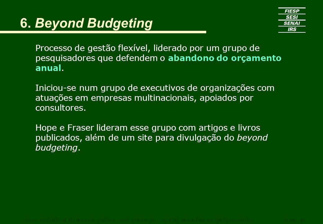 Processo de gestão flexível, liderado por um grupo de pesquisadores que defendem o abandono do orçamento anual. Iniciou-se num grupo de executivos de