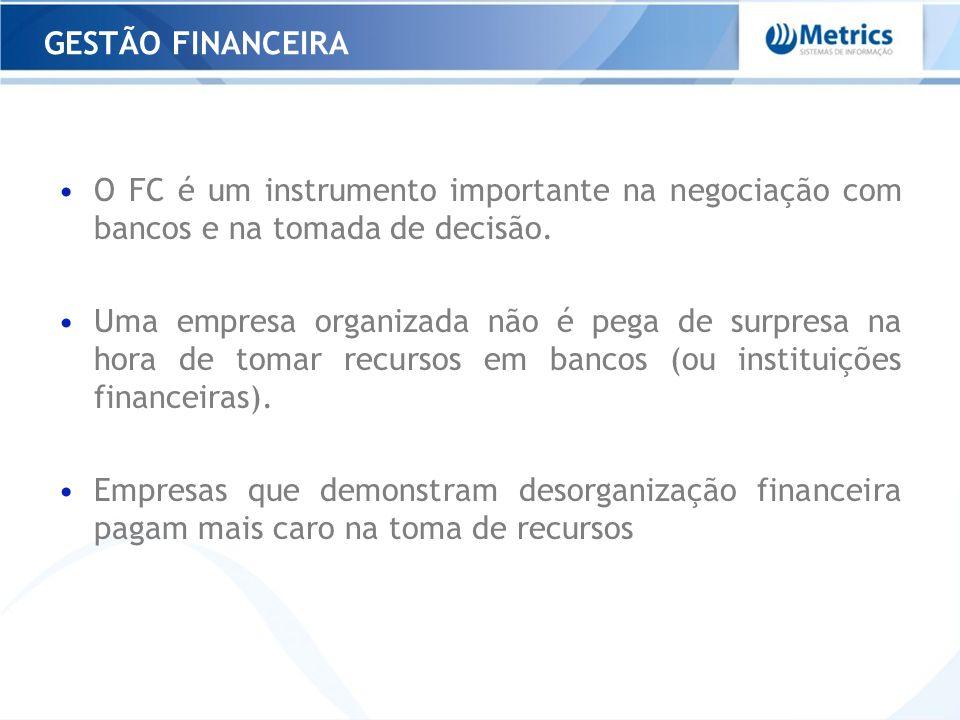 O FC é um instrumento importante na negociação com bancos e na tomada de decisão. Uma empresa organizada não é pega de surpresa na hora de tomar recur