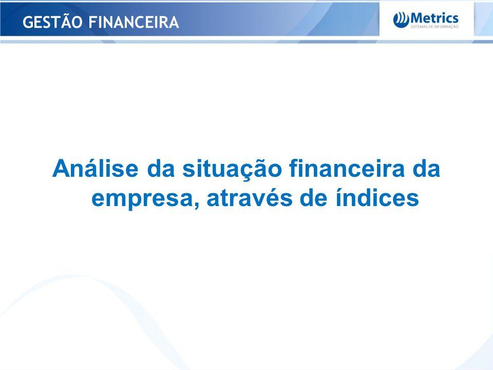 Análise da situação financeira da empresa, através de índices GESTÃO FINANCEIRA