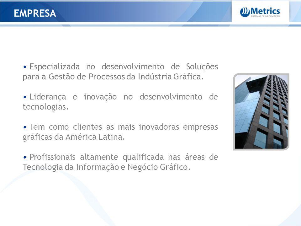 EMPRESA Especializada no desenvolvimento de Soluções para a Gestão de Processos da Indústria Gráfica. Liderança e inovação no desenvolvimento de tecno