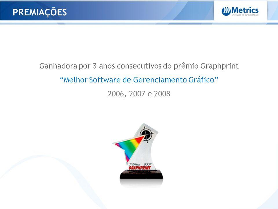 PARCEIROS TECNOLÓGICOS Microsoft Gold Certified Partner ISV Única empresa de software da América Latina associada ao CIP4 Membro participante do Desenvolvimento do padrão JDF