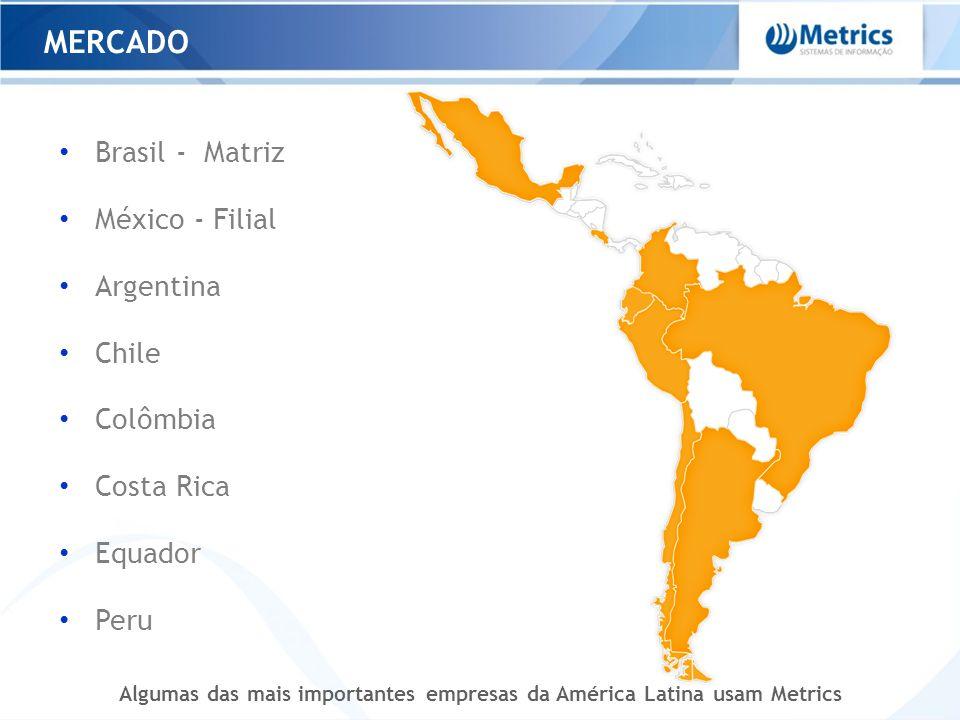 MERCADO Brasil - Matriz México - Filial Argentina Chile Colômbia Costa Rica Equador Peru Algumas das mais importantes empresas da América Latina usam