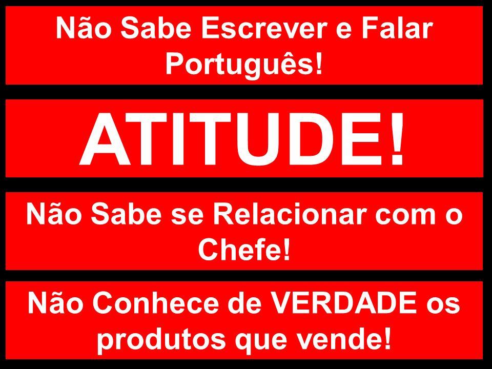 Não Sabe Escrever e Falar Português! ATITUDE! Não Sabe se Relacionar com o Chefe! Não Conhece de VERDADE os produtos que vende!
