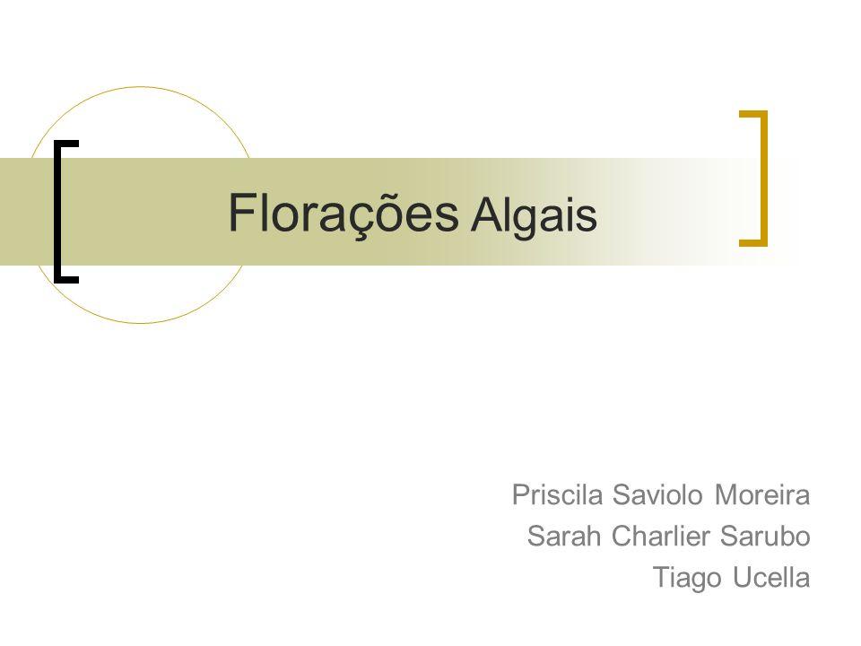 Florações Algais Priscila Saviolo Moreira Sarah Charlier Sarubo Tiago Ucella