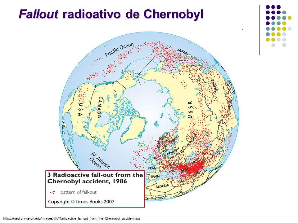 Fallout radioativo de Chernobyl https://qed.princeton.edu/images/f/fc/Radioactive_fall-out_from_the_Chernobyl_accident.jpg