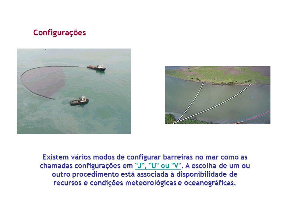 Existem vários modos de configurar barreiras no mar como as chamadas configurações em