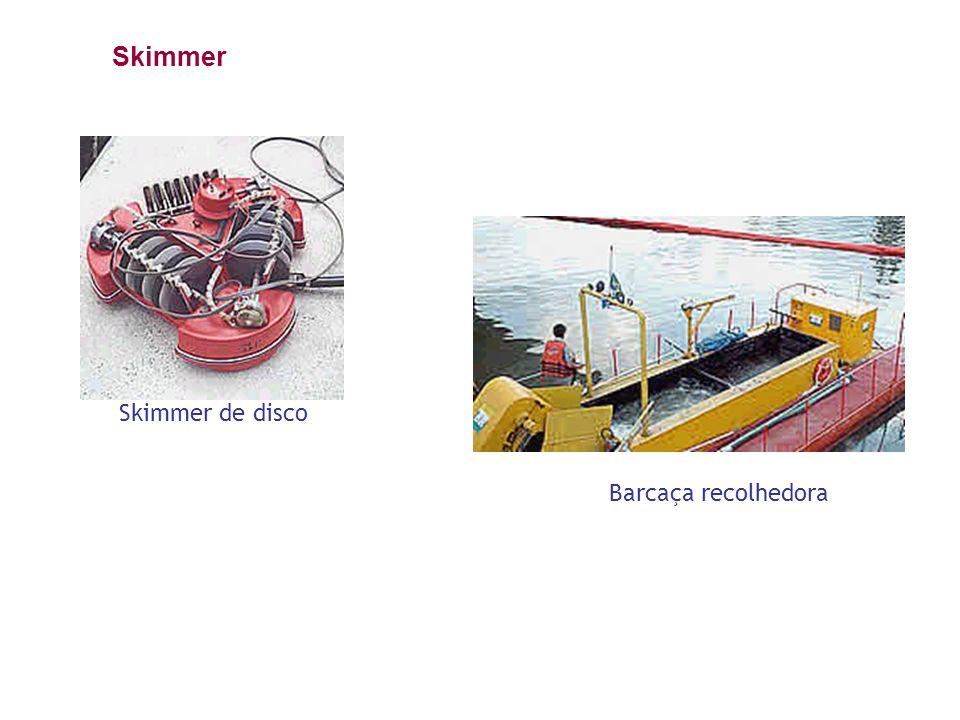 Skimmer de disco Barcaça recolhedora Skimmer