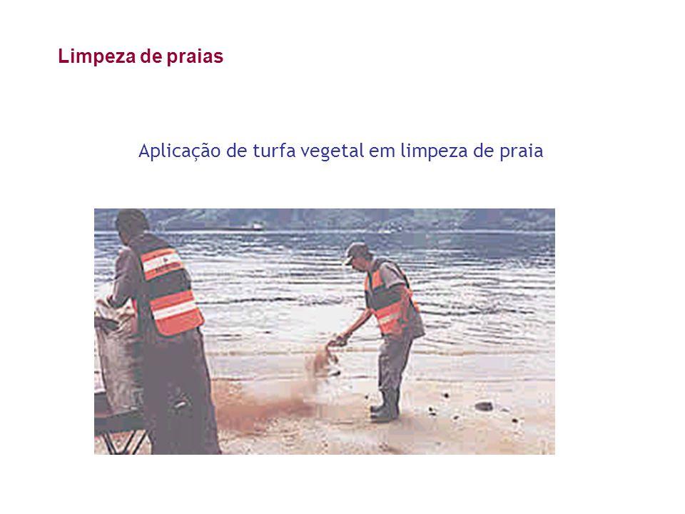 Aplicação de turfa vegetal em limpeza de praia Limpeza de praias