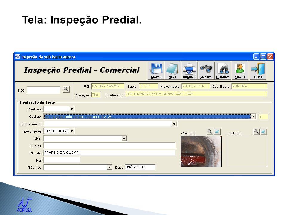Tela: Inspeção Predial.