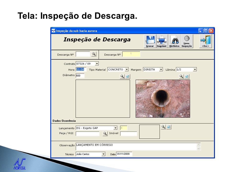 Tela: Inspeção de Descarga.