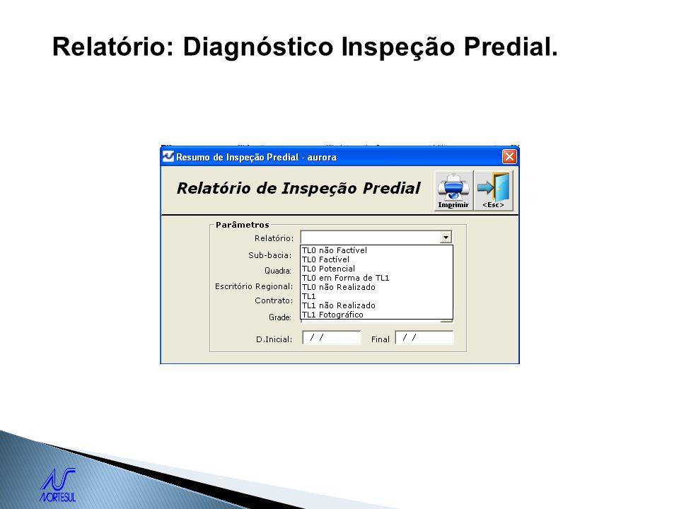 Relatório: Diagnóstico Inspeção Predial.