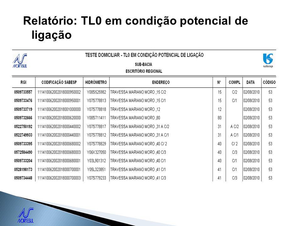 Relatório: TL0 em condição potencial de ligação