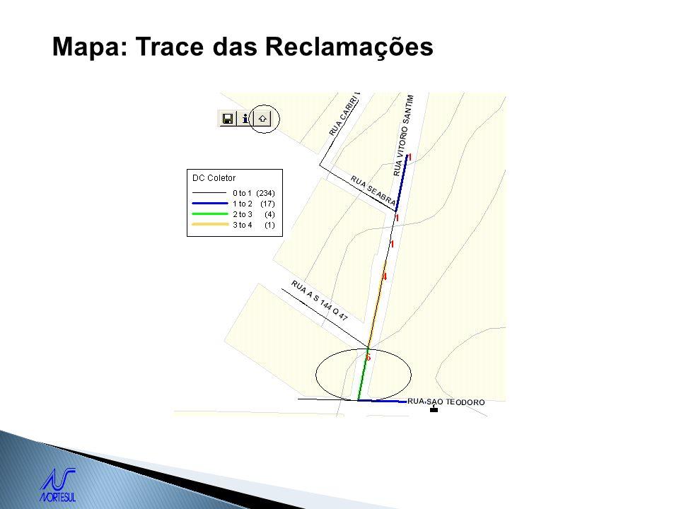 Mapa: Trace das Reclamações