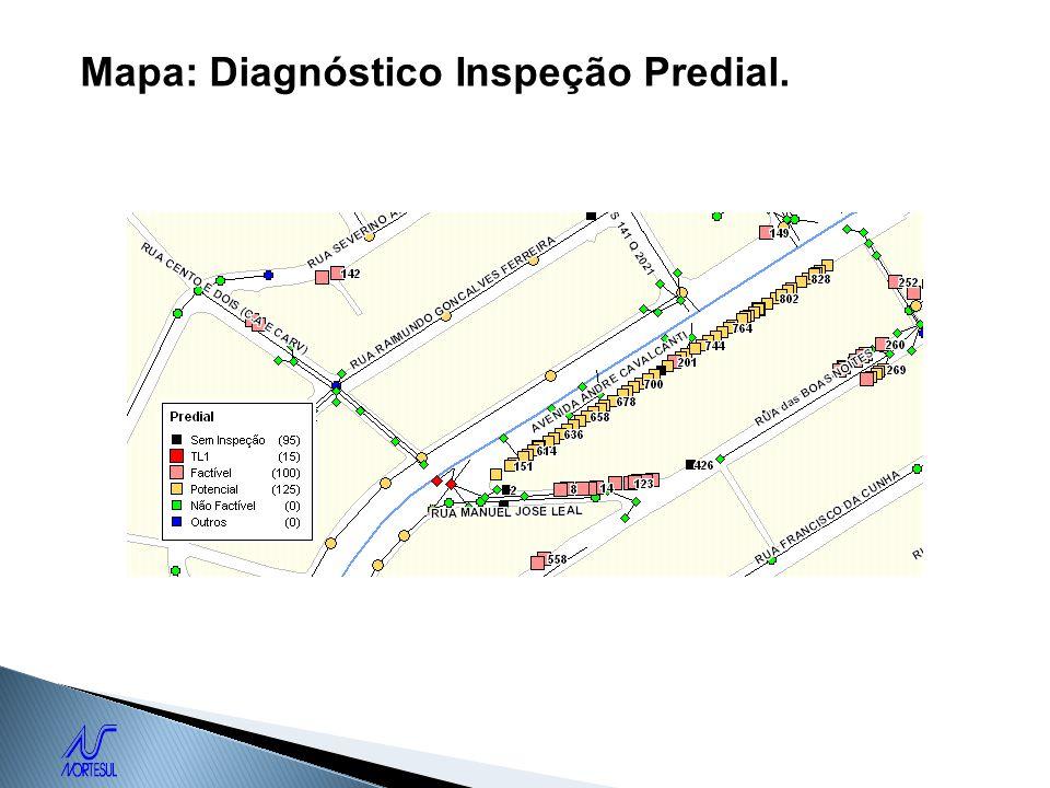 Mapa: Diagnóstico Inspeção Predial.
