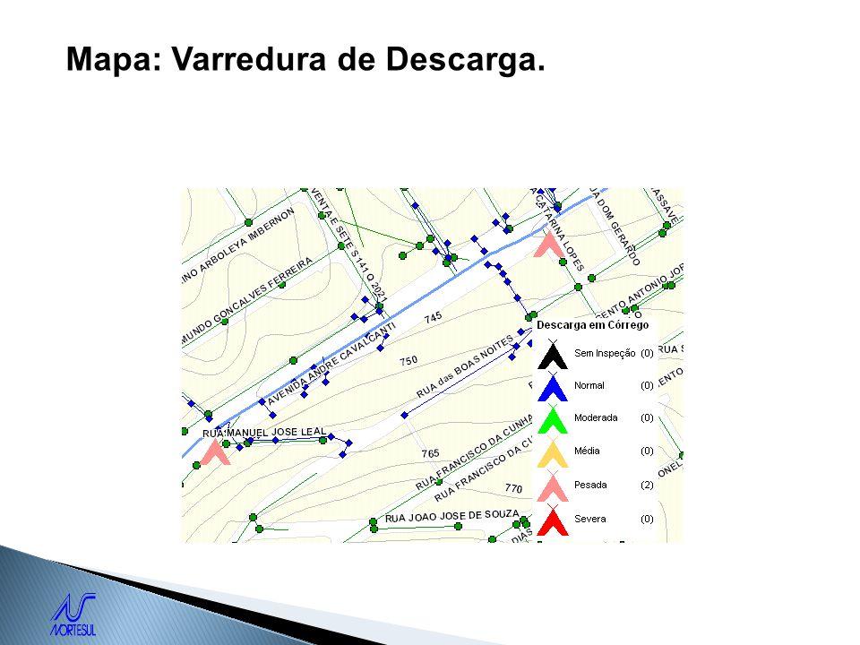 Mapa: Varredura de Descarga.