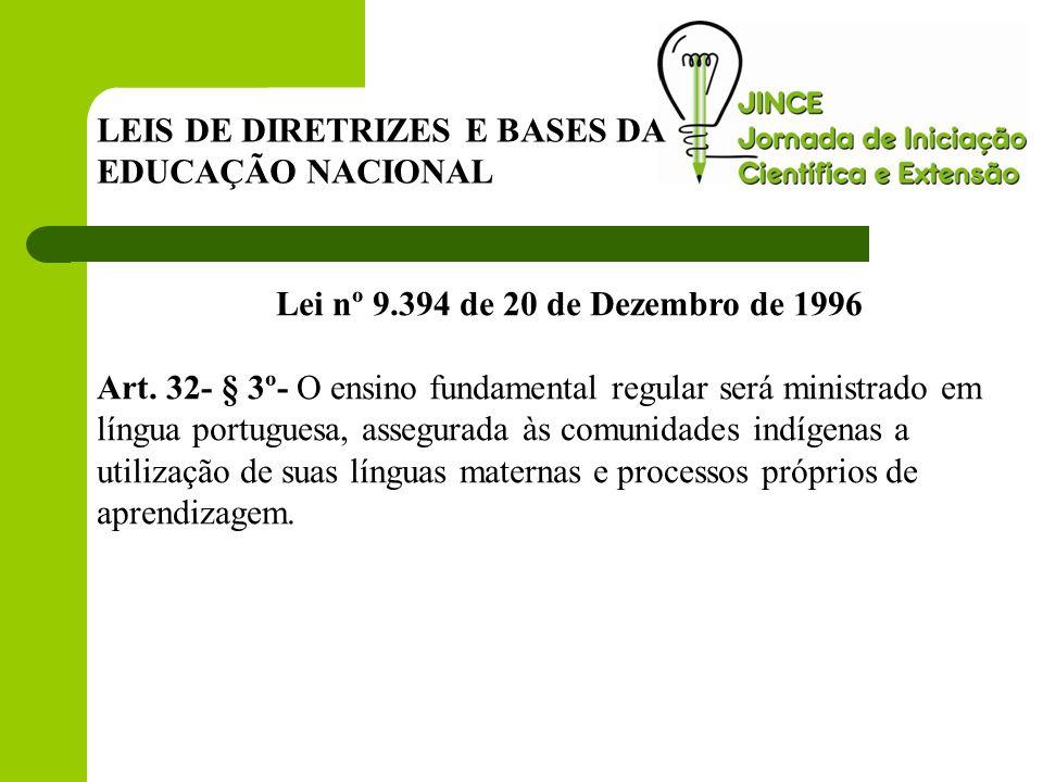 Lei nº 9.394 de 20 de Dezembro de 1996 Art.