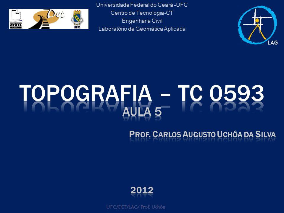 Universidade Federal do Ceará –UFC Centro de Tecnologia-CT Engenharia Civil Laboratório de Geomática Aplicada UFC/DET/LAG/ Prof. Uchôa