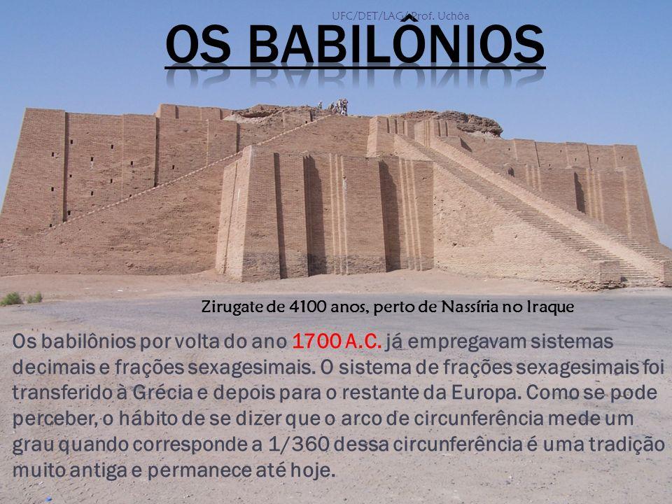 Os babilônios por volta do ano 1700 A.C. já empregavam sistemas decimais e frações sexagesimais. O sistema de frações sexagesimais foi transferido à G