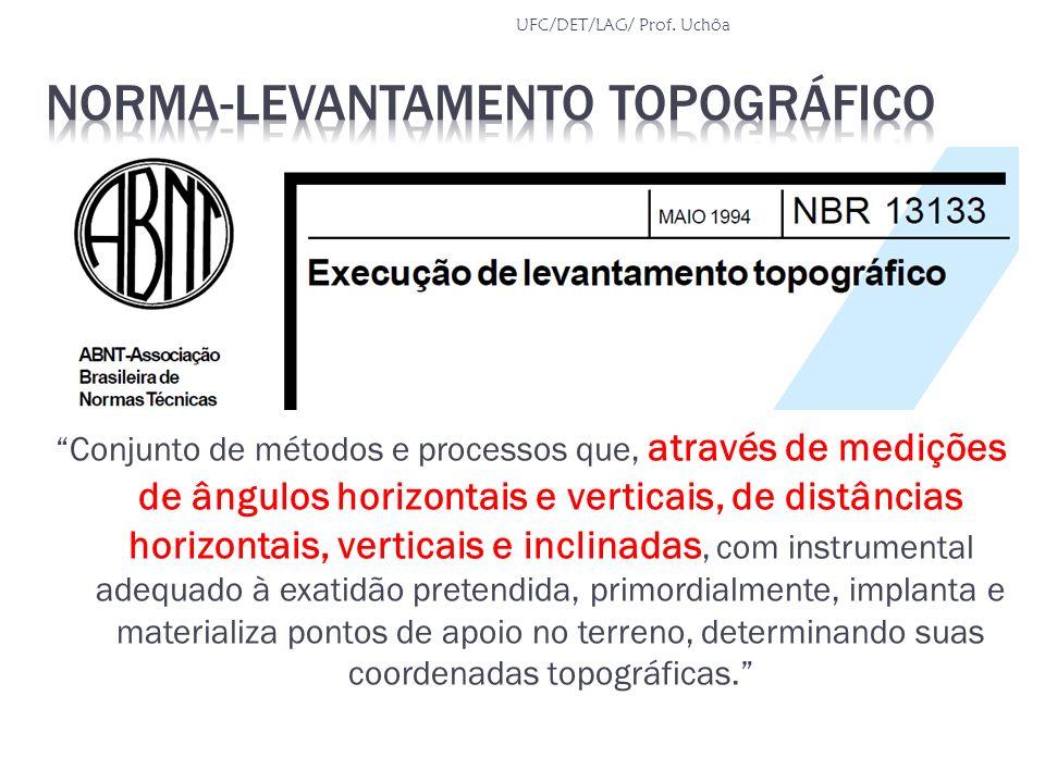 Conjunto de métodos e processos que, através de medições de ângulos horizontais e verticais, de distâncias horizontais, verticais e inclinadas, com in