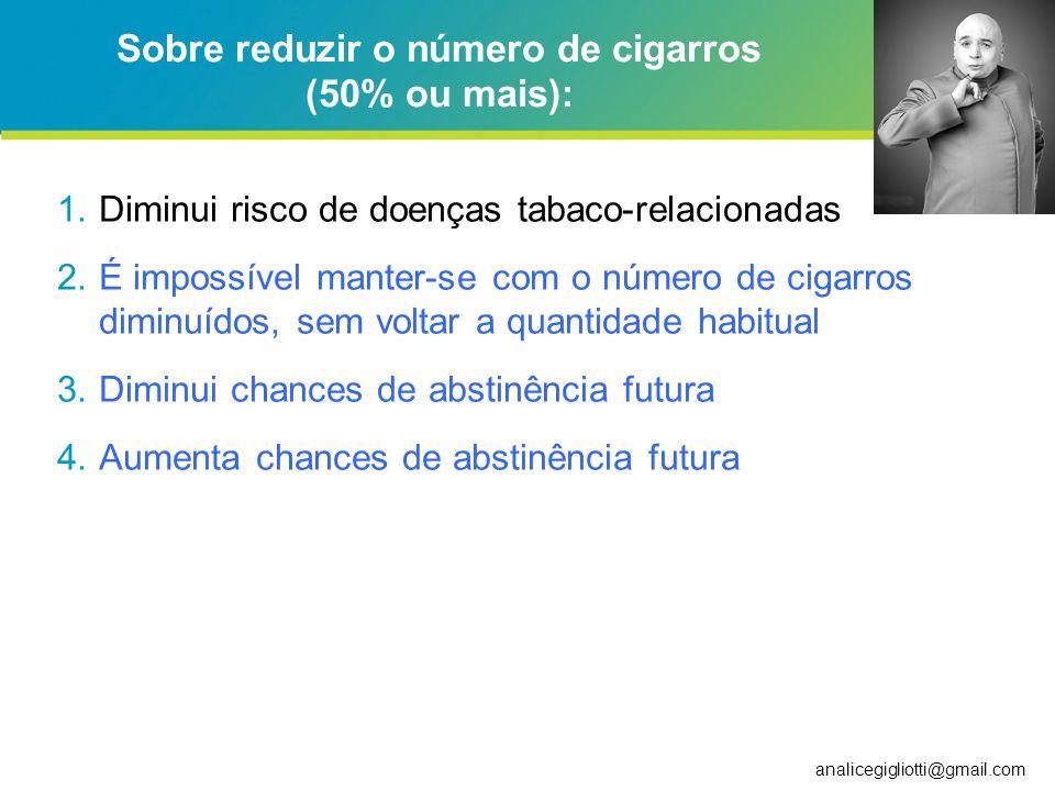analicegigliotti@gmail.com Motivaçao para deixar de fumar Office for National Statistics, 2005