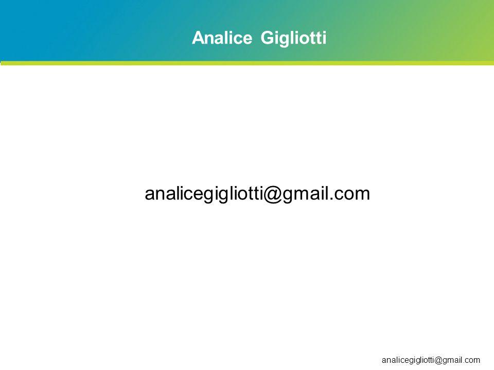 analicegigliotti@gmail.com Analice Gigliotti analicegigliotti@gmail.com