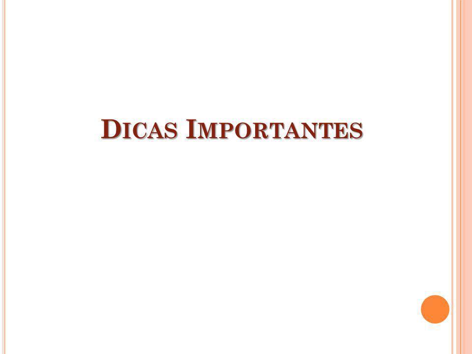 D ICAS I MPORTANTES
