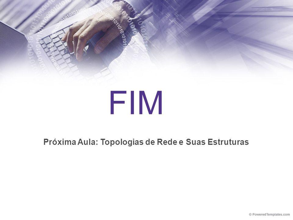 FIM Próxima Aula: Topologias de Rede e Suas Estruturas