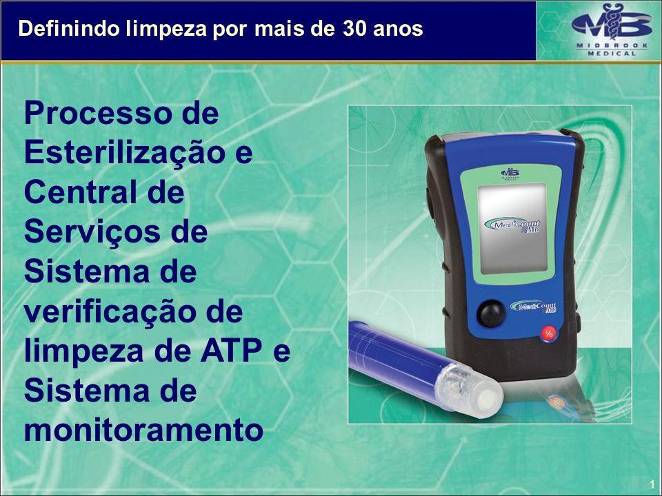 1 Definindo limpeza por mais de 30 anos Processo de Esterilização e Central de Serviços de Sistema de verificação de limpeza de ATP e Sistema de monit