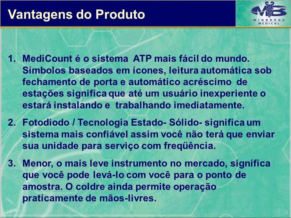 Vantagens do Produto 1.MediCount é o sistema ATP mais fácil do mundo. Símbolos baseados em ícones, leitura automática sob fechamento de porta e automá