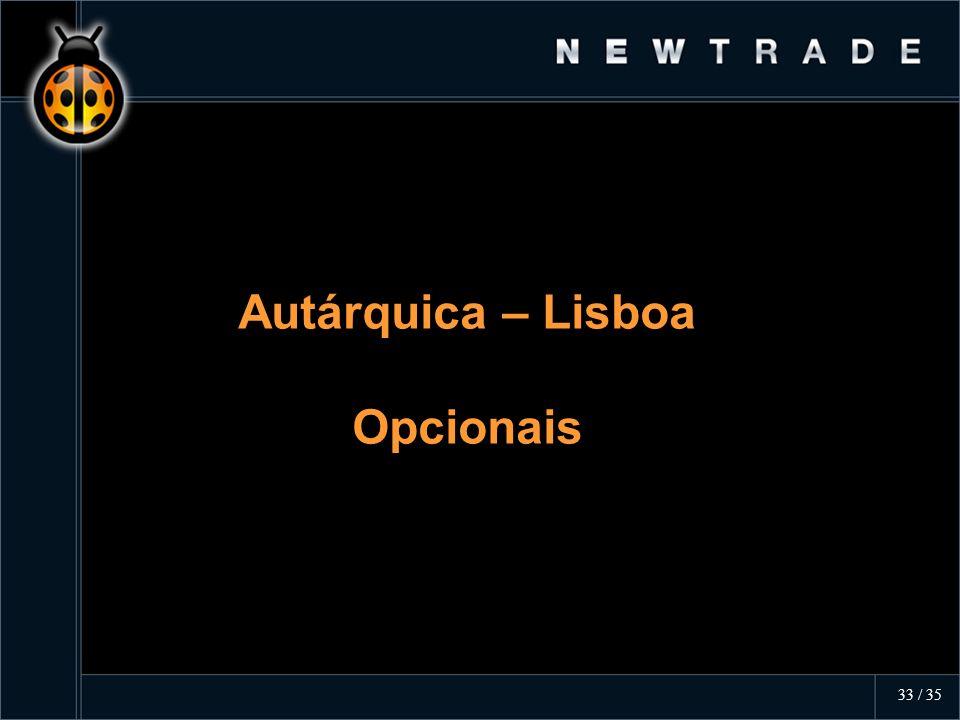 Autárquica – Lisboa Opcionais Autárquica – Lisboa Opcionais 33 / 35