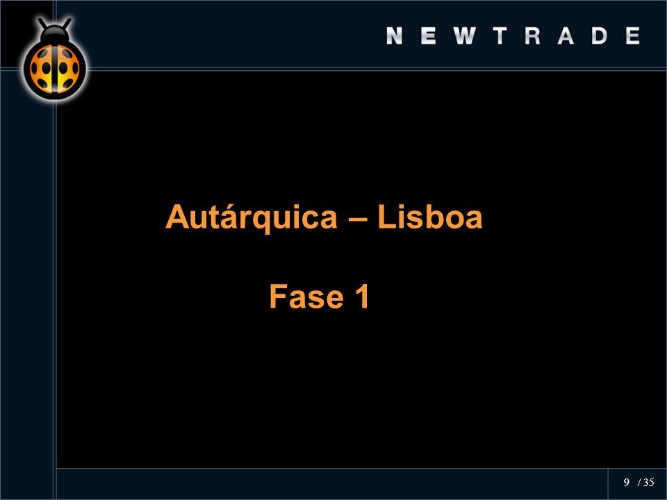 Autárquica – Lisboa Fase 1 Autárquica – Lisboa Fase 1 9 / 35