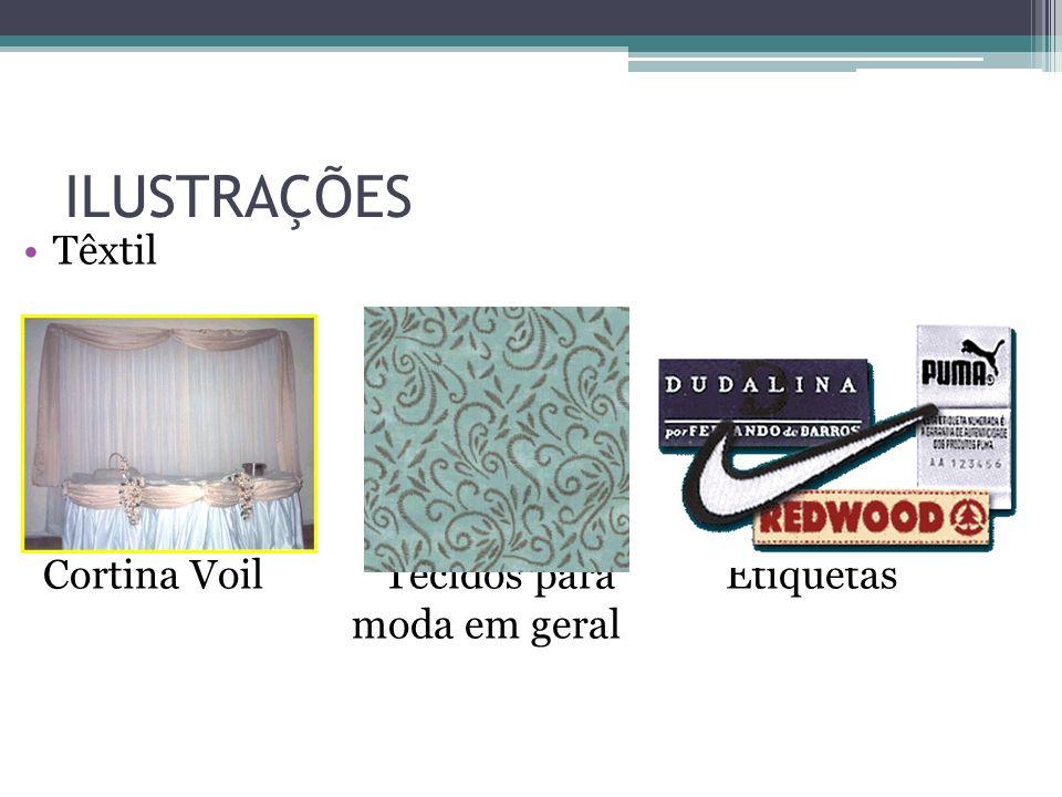 ILUSTRAÇÕES Têxtil Cortina Voil Tecidos para Etiquetas moda em geral