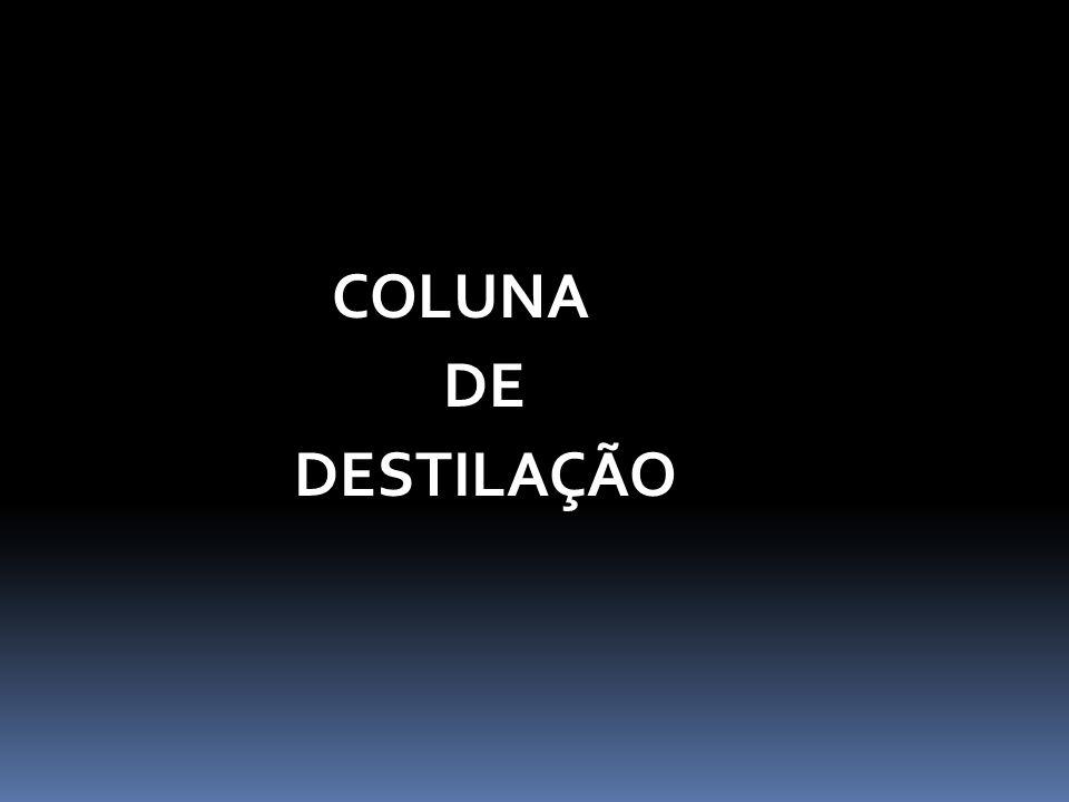 COLUNA DE DESTILAÇÃO