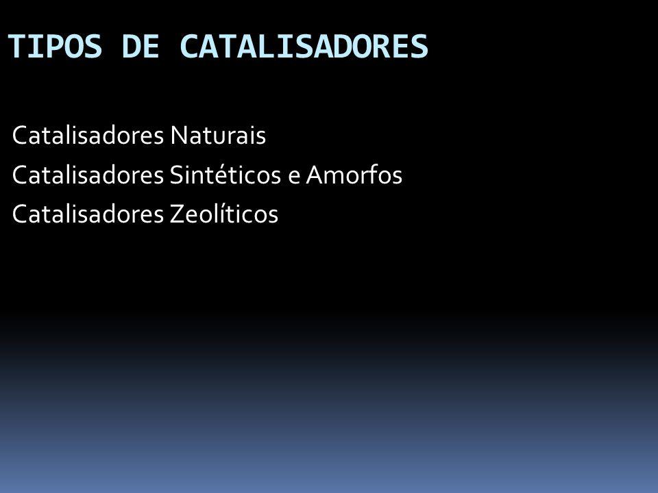 TIPOS DE CATALISADORES Catalisadores Naturais Catalisadores Sintéticos e Amorfos Catalisadores Zeolíticos