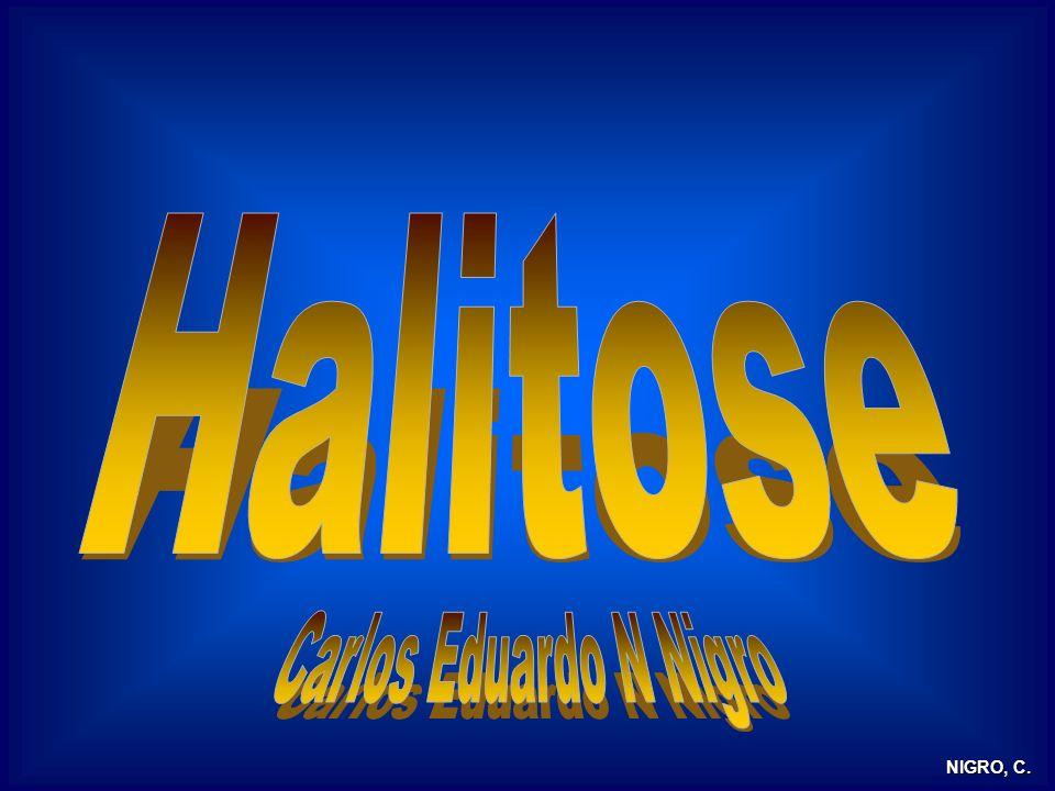 Halitose Mau hálito é um sintoma ou um sinal clínico.