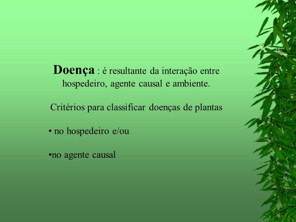 HOSPEDEIRO: a) as doenças que ocorrem numa determinada espécie botânica.