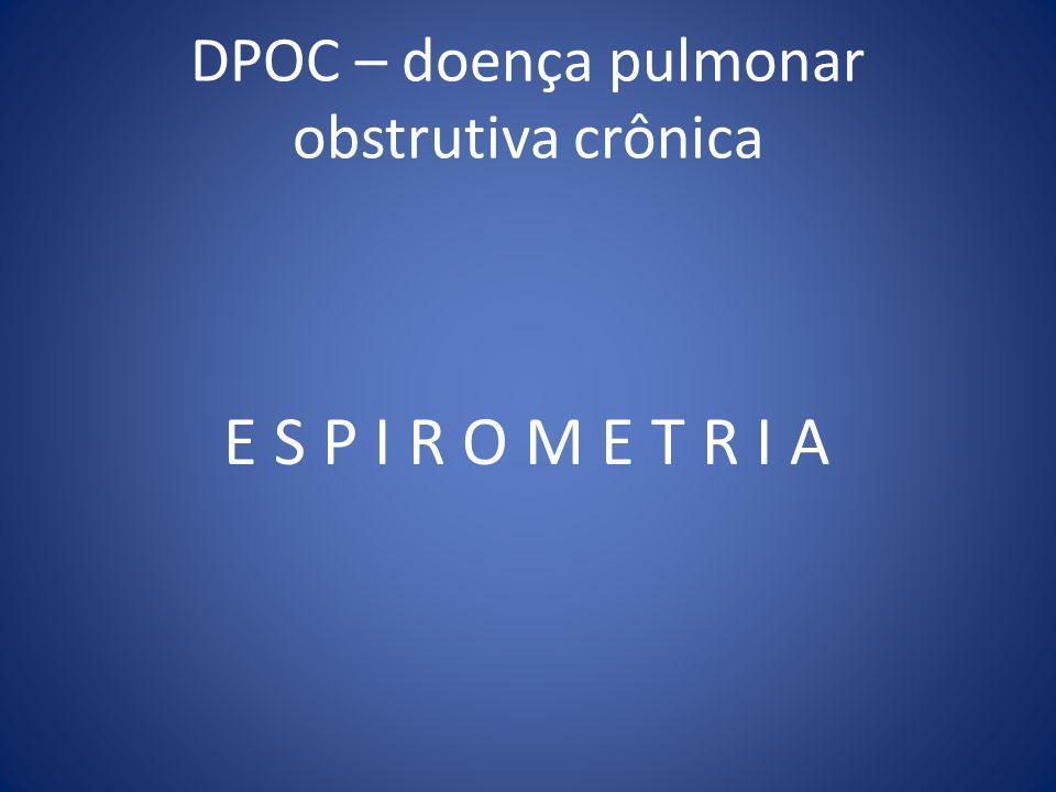 DPOC – doença pulmonar obstrutiva crônica E S P I R O M E T R I A