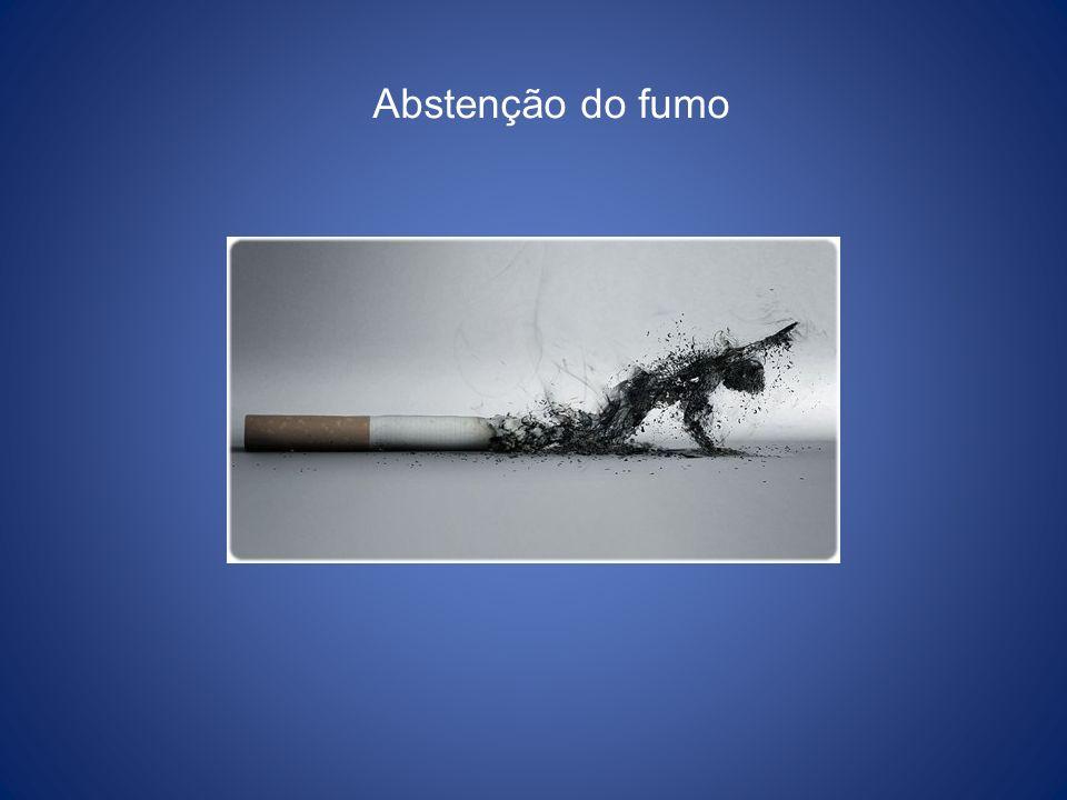 Abstenção do fumo